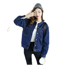 Buy RosEvans Fashion Women Korean Stand Collar BF Jean Jacket Coat 2017 Spring Summer Jacket Female Casual Basic Short Jacket B223 for $30.95 in AliExpress store