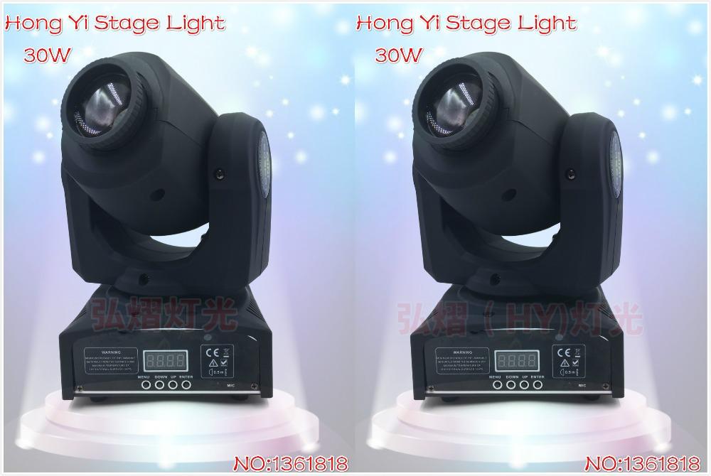 fast shipping HOT/ 2pcs/lot Eyourlife LED Inno Pocket Spot Mini Moving Head Light 30W DMX dj 8 gobos effect stage lights(China (Mainland))