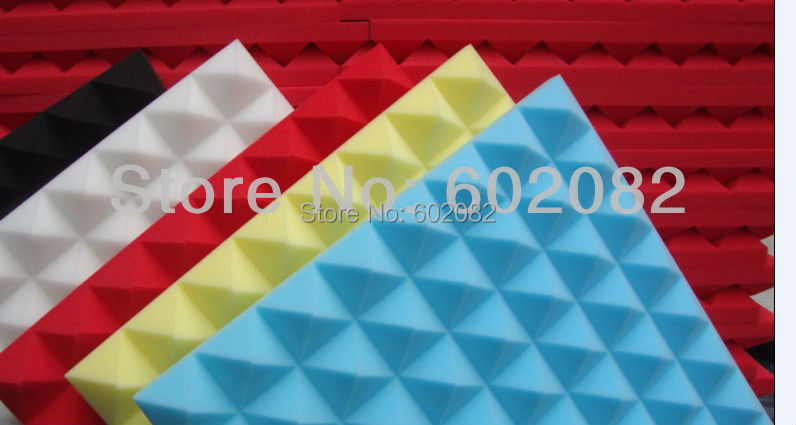 16pcs Hing Quality Acoustic Pyramid Foam Panels Sponge Red Color  studio sound-absorption panel<br><br>Aliexpress