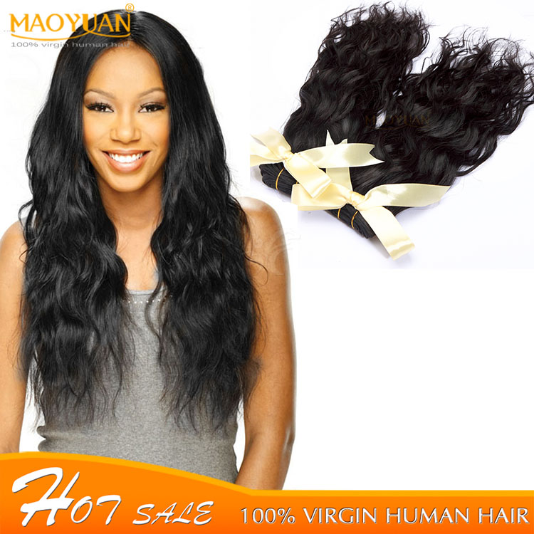 10-30 Inches In Stock Natural Black Water Wave Indian Wavy Virgin Hair 6A Indian Curly Virgin Hair Unprocessed Indian Remy Hair<br><br>Aliexpress