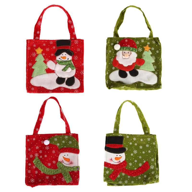 Cute Christmas Elf Pattern Candy Bag Handbag Home Party Decoration Gift Bag Christmas Supplies(China (Mainland))