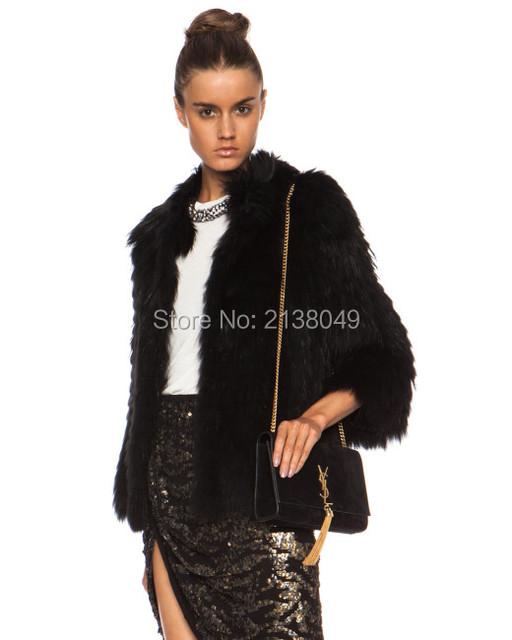 FC023 Женщины зимний дизайн полосы меха куртки Мех Енота Пальто