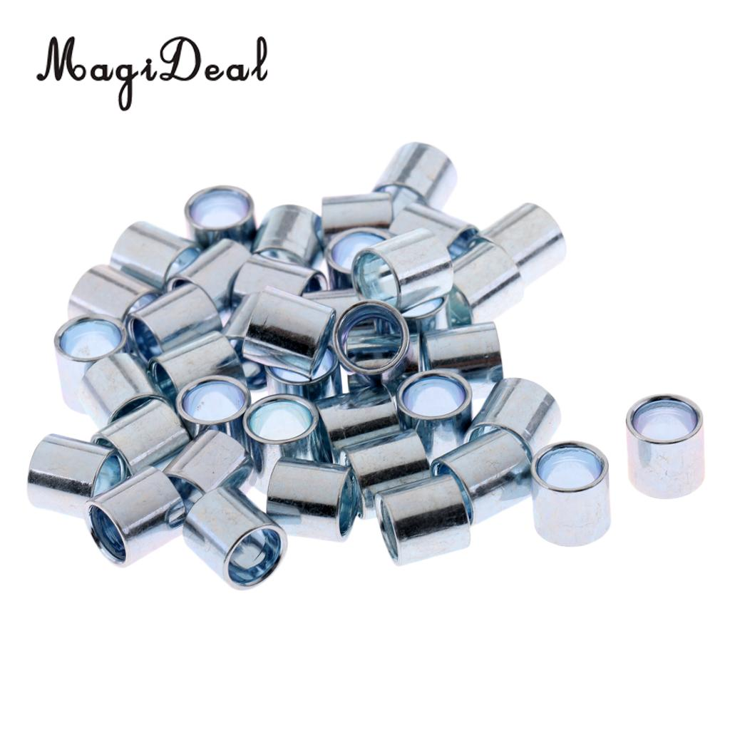MagiDeal 40 Pieces Iron Sturdy Longboard Skateboard Bearings Spacers Hardware Skateboard Scooters Skate Board Accessories