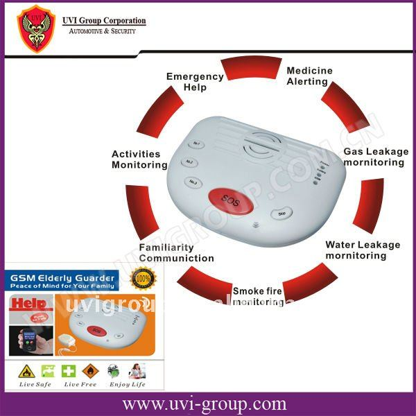 China Post Free Shipping!2pcs/lot. GSM Elderly Guardian System, Emergency help, medical alarm system GSM-B10