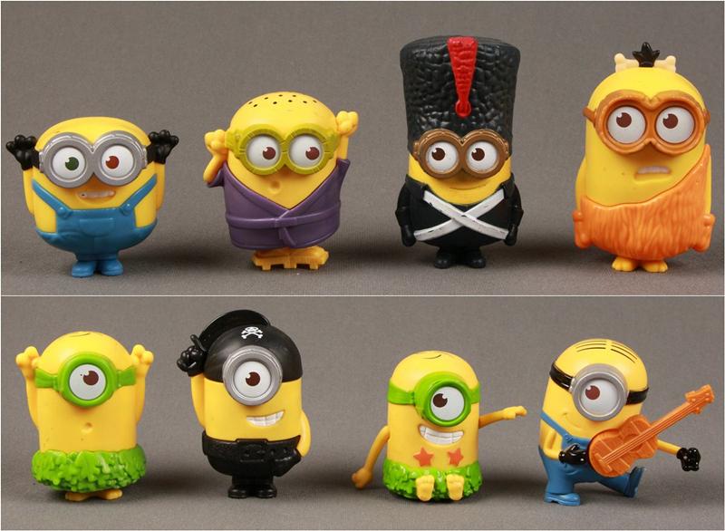 Set of Despicable Me 2 Figures Minions & Characters 2015 Mc*Donald's Golf loose figure Good Collection(China (Mainland))
