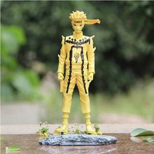 "Buy Naruto Anime 10"" 25CM Uzumaki Naruto Kyubi Mode Golden Color Boxed PVC Action Figure Collection Model Toy for $30.35 in AliExpress store"