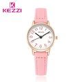 Fashion KEZZI Brand Lovely Children Watches Girls Daily Waterproof Leather Cartoon Watch Quartz Wristwatches For Girls