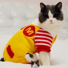 Pets Ronald McDonald clothes Cat clothes(China (Mainland))