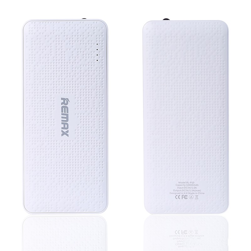 100% High Quality Remax Real 10000 mAH Pure serial Grid External Battery Packs Power Bank Universal for iphone HTC android phone