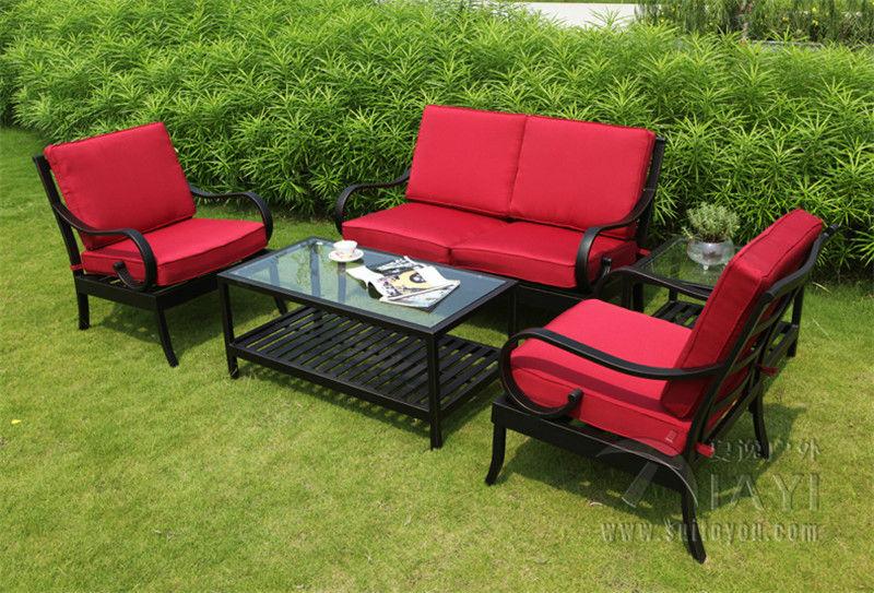 5-piece Best-selling cast aluminum Outdoor furniture Sofa set<br><br>Aliexpress