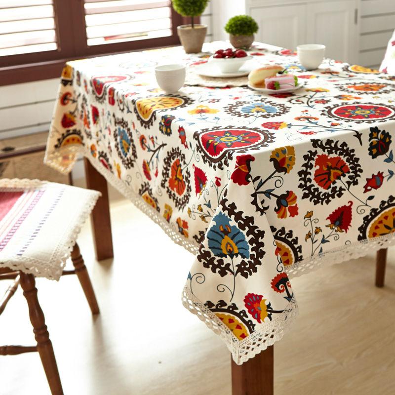 Svetanya Canvas Desk Cover Dining Tableclothes reactive Printing(China (Mainland))