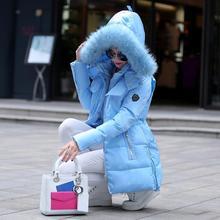 Chaqueta de algodón acolchado de invierno medio-largo de mujer