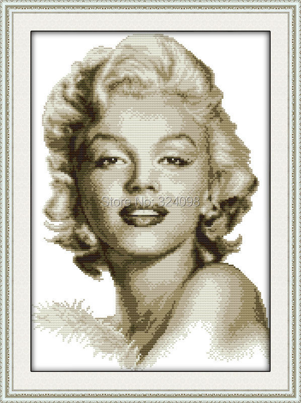 Гаджет  Wholesale Needlework,Stitch,DIY DMC Cross Stitch,Sets For Embroidery Kits,The sketch of Marilyn Monroe Counted Cross-Stitching None Дом и Сад