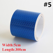Free Shipping 3m*5cm Reflective Strips Car Stickers for car-styling Motorcycle decoration Automobiles Safety Warning Mark Tape(China (Mainland))