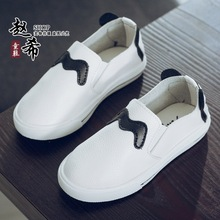 kids shoes for girl genuine leather kinderen schoenen meisjes slip-on kids flat breathable shoes waterproof chaussure fille