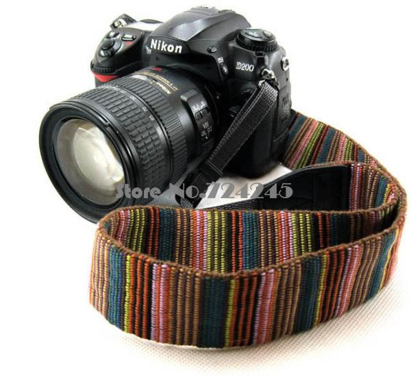 Universal Color Stripes Soft red Camera Neck Straps Shoulder Strap Belt Grip For  All DSLR Camera <br><br>Aliexpress