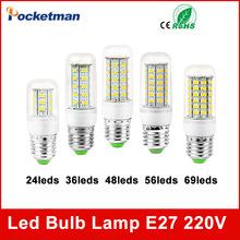 Buy High Power 220V Christmas Lights SMD5730 Led Lamp Warm White/ White,24 36 48 56 69LEDs Lampada Led Bulb E27 E14 for $1.28 in AliExpress store