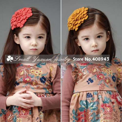 New Fashion Woman children hair accessories 8colors Woolen flowers headband girl Baby Head flower hairbands Free shipping!F718(China (Mainland))