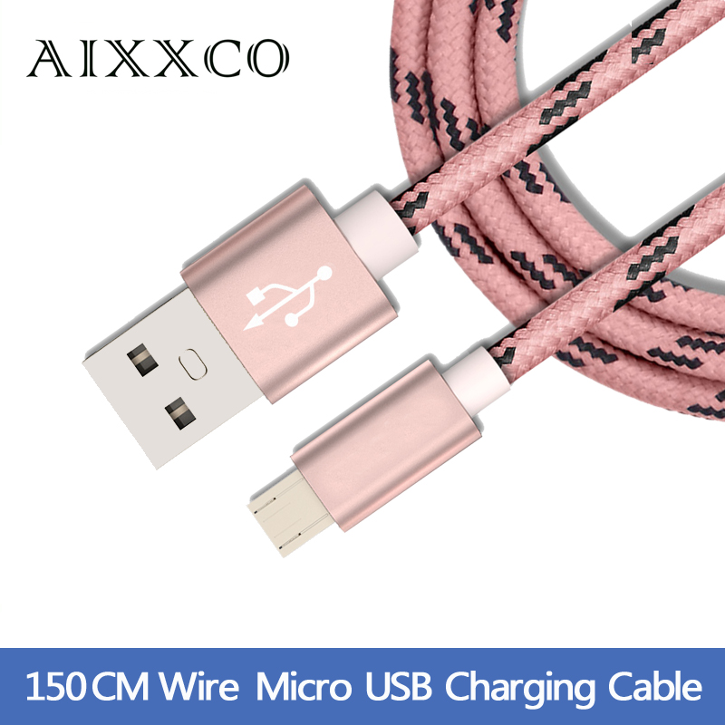 Fast Charge wire Braided wire Mini USB Charger Cable Micro usb Cable for Samsung galaxy S7 HTC MEIZU SONY Android 1m 2m(China (Mainland))