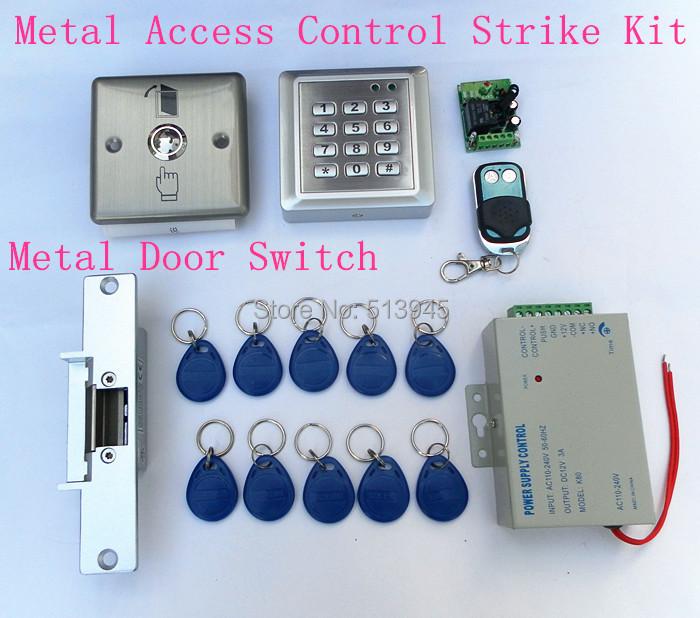 Waterproof RFID Reader Access Control Full Kit Set + Electric Strike Door Lock + Power Supply Brand New<br><br>Aliexpress