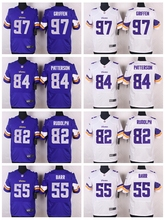 Everson Griffen,Cordarrelle Patterson,Kyle Rudolph,Anthony Barr,Adrian Peterson,Stefon Diggs Sam Bradford for youth stitched(China (Mainland))