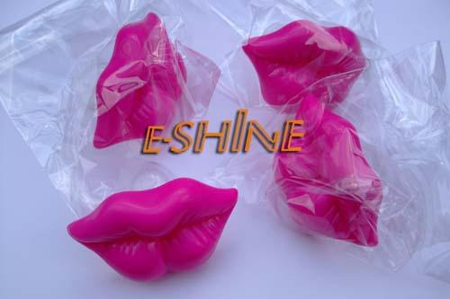 Смешно пустышка 100 шт полиэтиленовый пакет упаковка,   поцелуй дизайн забавный соска-пустышка, Кремний материал смешно манекен