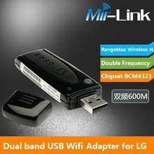 RangeMax Dual band Wireless USB Adapter 600Mbps WNDA3100 V2 Network Card USB Adapter for LG/Panasonic Smart TV Viera Connect(China (Mainland))