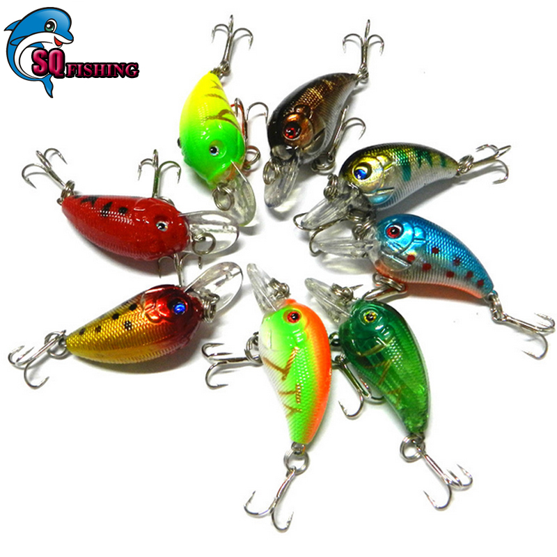 Crankbait Wobbler Fishing Lures Japan 8PCS/LOT 4.5CM -4.2G Swimbait Plastic Hard Lure Isca Artificial Bait SQ Fishing Tackle(China (Mainland))