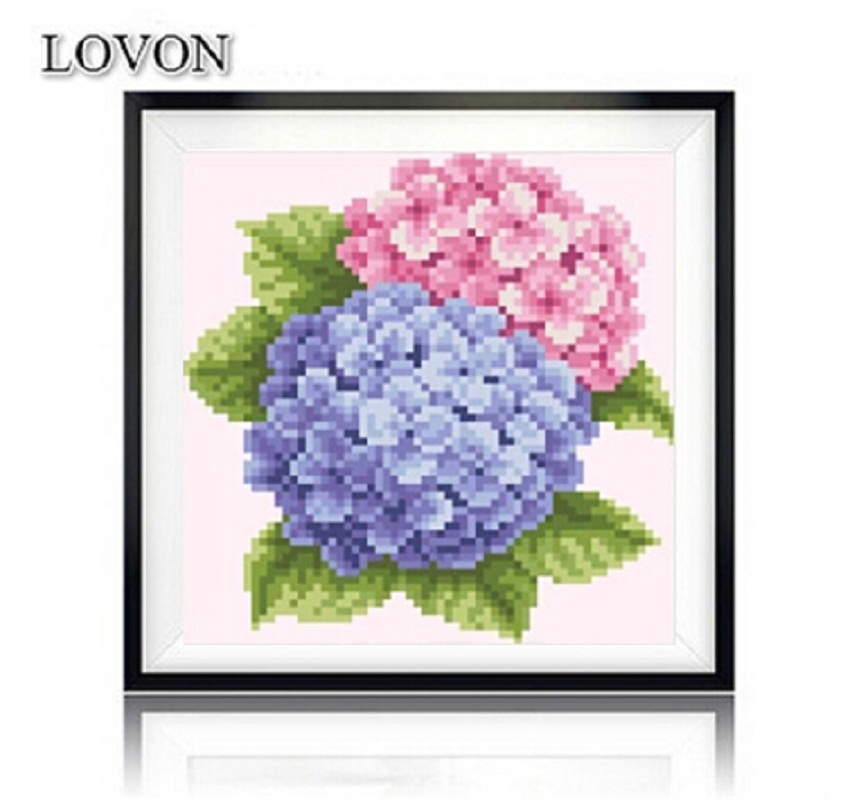 5D DIY diamond embroidery flowers lucky pictures Full Square Rhinestone painting mosaic Home Decorative needlework(China (Mainland))