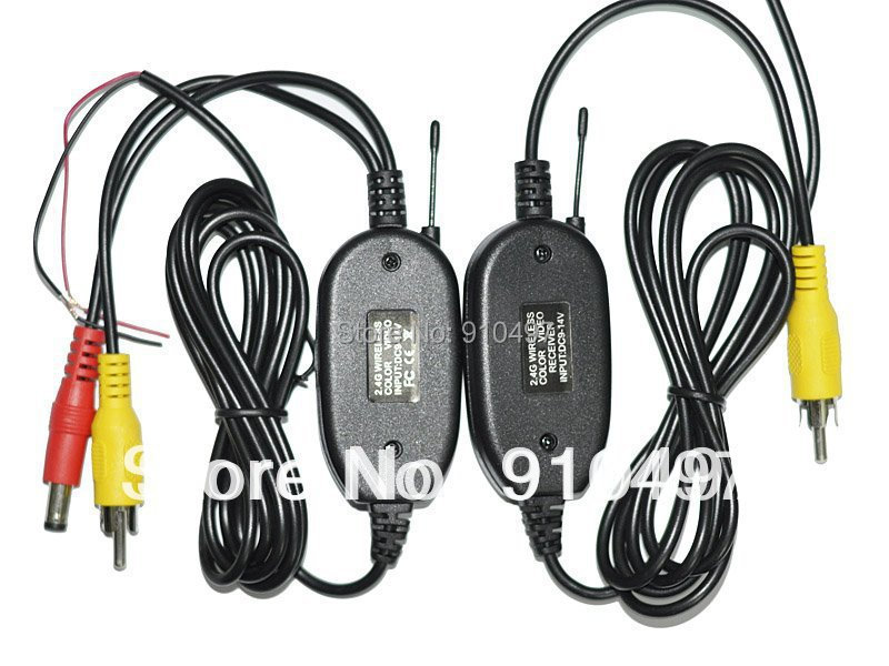 2.4GHZ RCA Video Wireless Transmitter & Receiver for Car Rearview reversing Camera Monitor DVD Cheapest(China (Mainland))