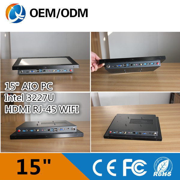 i3 CPU 15 inch industrial all in one touchscreen pc AIO PC with 32G SSD / 2GB RAM (QY-15C-HCAA)(China (Mainland))