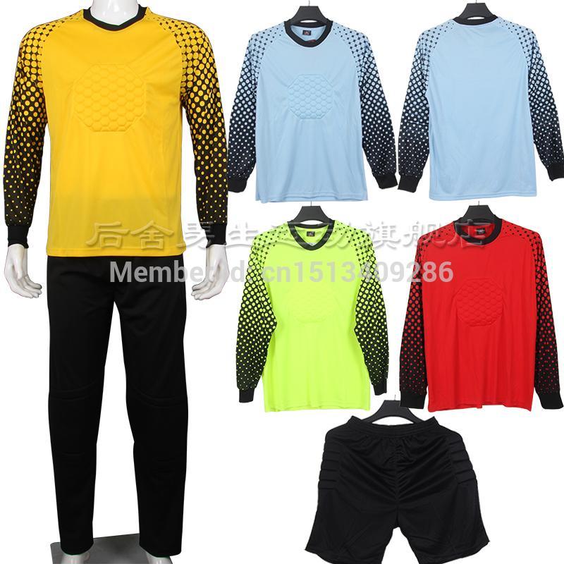 2016 Football Soccer Referee Uniform Suit Goalkeeper Wicketkeeper Long-Sleeve Set Soccer(China (Mainland))