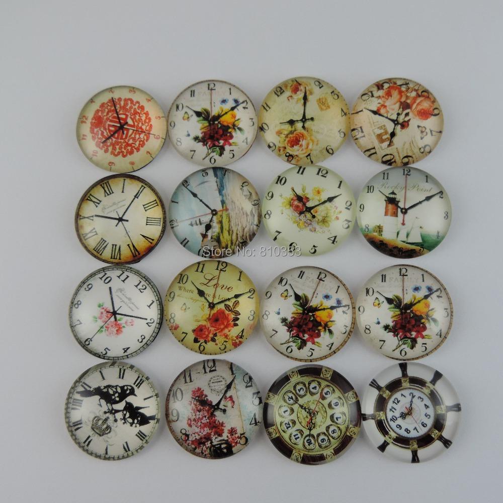 Wholesale 12PCS Multi Patterns Flat Back Glass Cabochons Jewelry Craft Accessories 25*2*6mm 39099(China (Mainland))