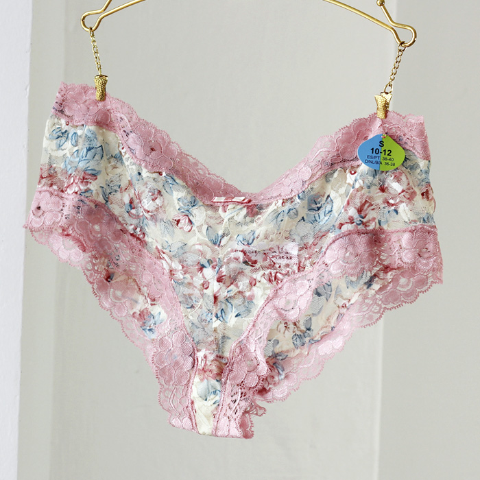 Underwear Women Sexy Panties Sexy Lingerie Pink Hipster Briefs Panty Boyshorts PM014-2