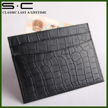 wholesale Free Shipping + 100% genuine Cow leather wallet + new fashion designer sheep leather credit Card Holder hot sale