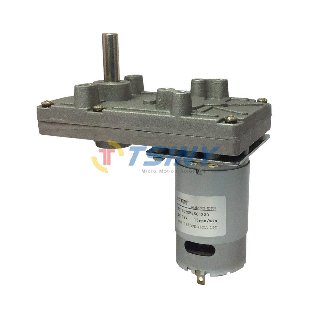Dc 12v 13rpm Metal Electric Pmdc Gearbox Motor