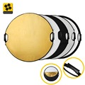 110cm 42 5 in 1 Mulit Collapsible Portable Folded Photographic Light Reflector with handle with