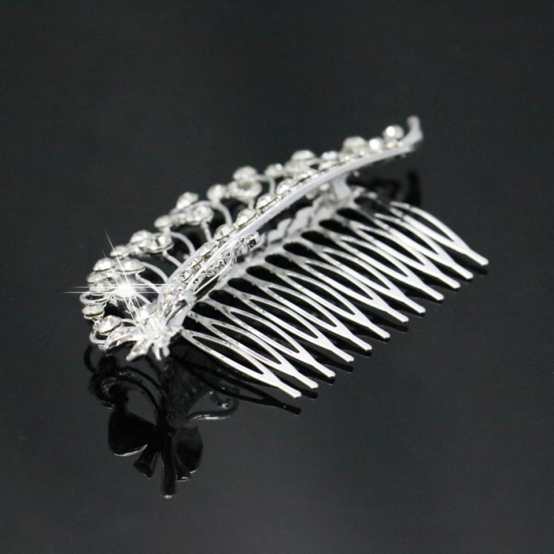Trendy Hairwear Wedding Hair Accessories Bride Bridal Floral Hair Comb Hair Jewelry Rhinestone Crystals Hair Comb 106x58mm(China (Mainland))