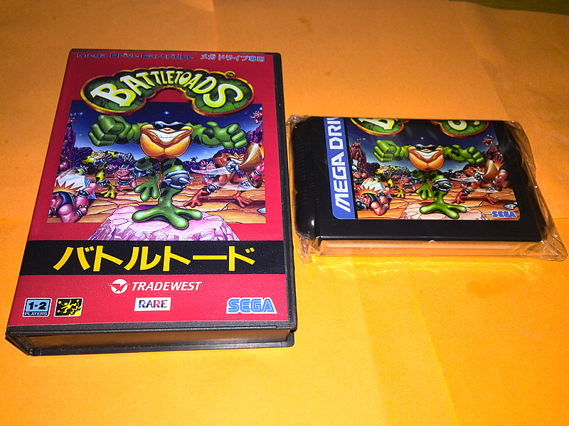 SEGA MD game card : Battletoads ( box+cartridge )<br><br>Aliexpress
