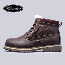 Size 38~50 Natural Wool Winter Boots Russian Style Full grain leather Sheep Fur Handmade Men Winter Snow Boots #YM8988(China (Mainland))