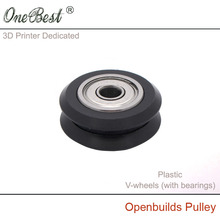 3D Printer Accessories Plastic pulley Openbuilds Passive Pulley  Perlin Wheel 625Z  POM  V-wheels (with bearings) Free Shipping