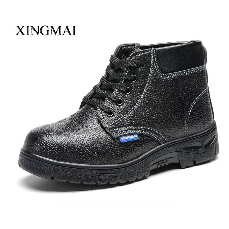 2016 New Winter Lace Up Men Boots High Quality Antistatic. Anti-smashing Steel Toe Cap Men Work & Safety Shoes Boots(China (Mainland))