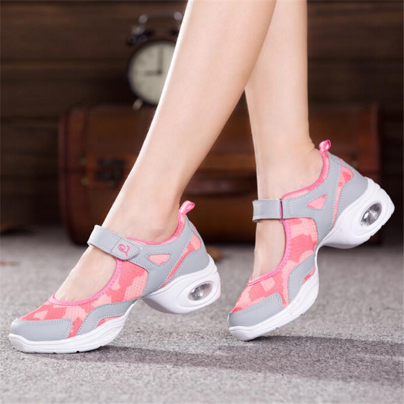 Ladies' Dance Shoes Sneakers dance shoes sneakers for women shoes Size 35-40 fashion mesh sports dance sneakers women(China (Mainland))