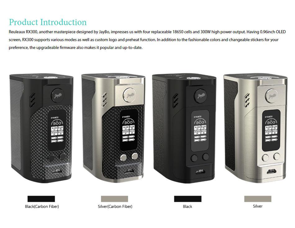 ถูก เดิม300วัตต์WISMEC Reuleaux RX300 TCกล่องสมัยwismec rx300สมัยVW/TCโหมดบุหรี่อิเล็กทรอนิกส์สมัยvs Rx2/3