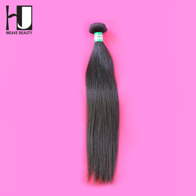 HJ Weave Beauty Virgin Hair Straight 100% Virgin Brazilian hair Bundles Brazilian Virgin Human Hair Weave 1 Piece/Lot