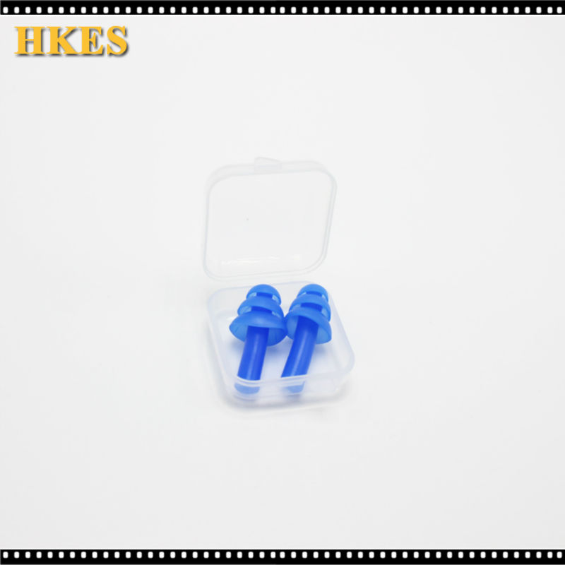 Blue Spiral Solid Convenient Silicone Ear Plugs Anti Noise Snoring Earplugs Comfortable For Study Sleeping