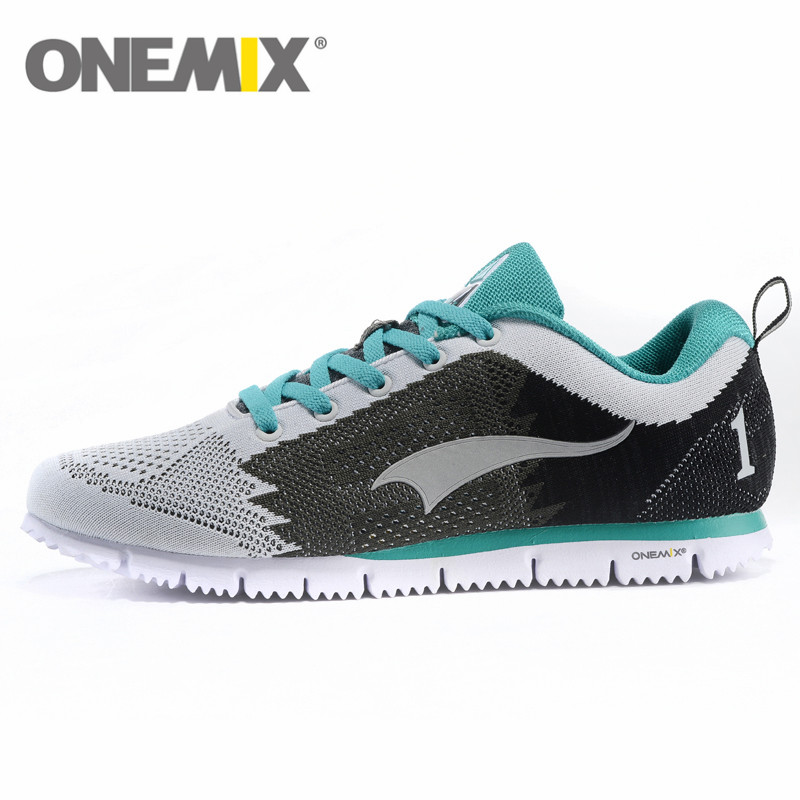 New Onemix air fly knit light Mens Running shoes 2016 Breathable comfortable running sneakers Outdoor sport track shoes trainers(China (Mainland))