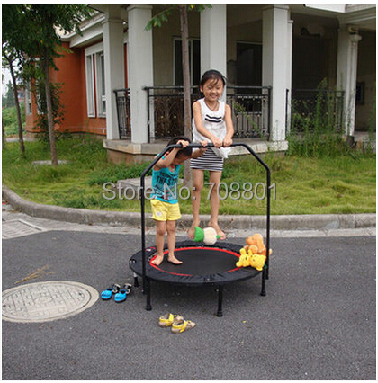 High Quality Home 40 Inch Fold Trampoline With Handle,Steel Spring Jump Bed With Adult Fitness Belt Armrest(China (Mainland))