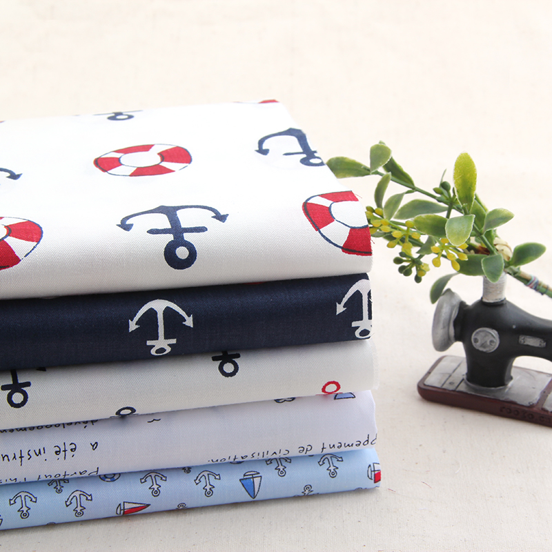 High Quality Navigation Series Patchwork Cotton Fabric Needlework Textile Sewing Patchwork Fabric For Bag Hat Doll clothes ZH-4(Hong Kong)