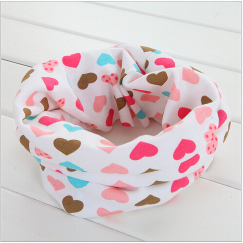 2016 winter new cotton scarf love heart car bee cartoon cute baby scarves kids O ring collars children ring scarf accessories(China (Mainland))
